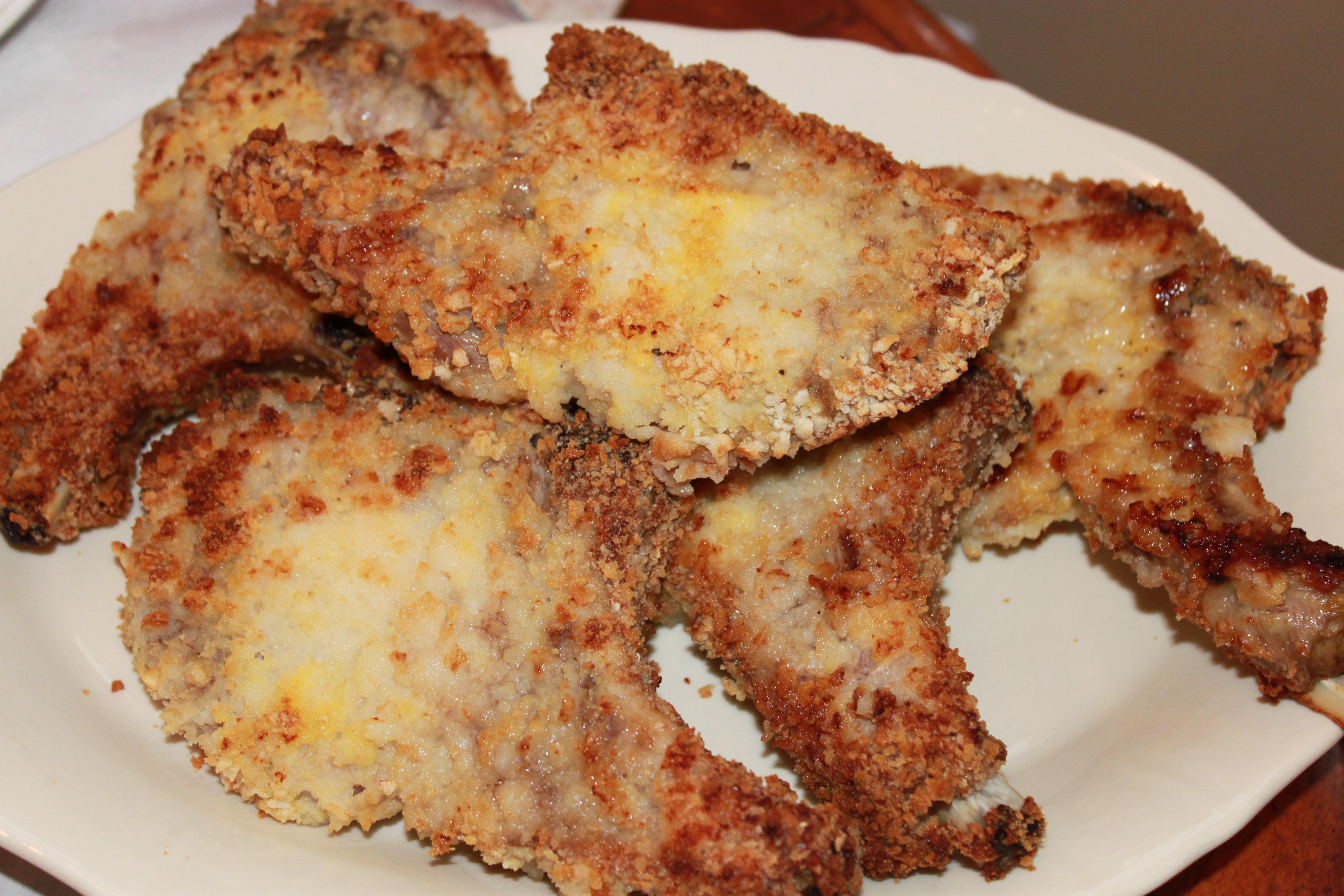 Breaded Baked Pork Chops  baked breaded pork chops mayonnaise