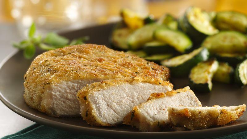 Breaded Boneless Pork Chops  Italian Breaded Pork Chops recipe from Betty Crocker