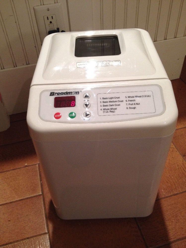 Breadman Bread Machine  Breadman TR440 Automatic Bread Maker Machine WORKS GREAT
