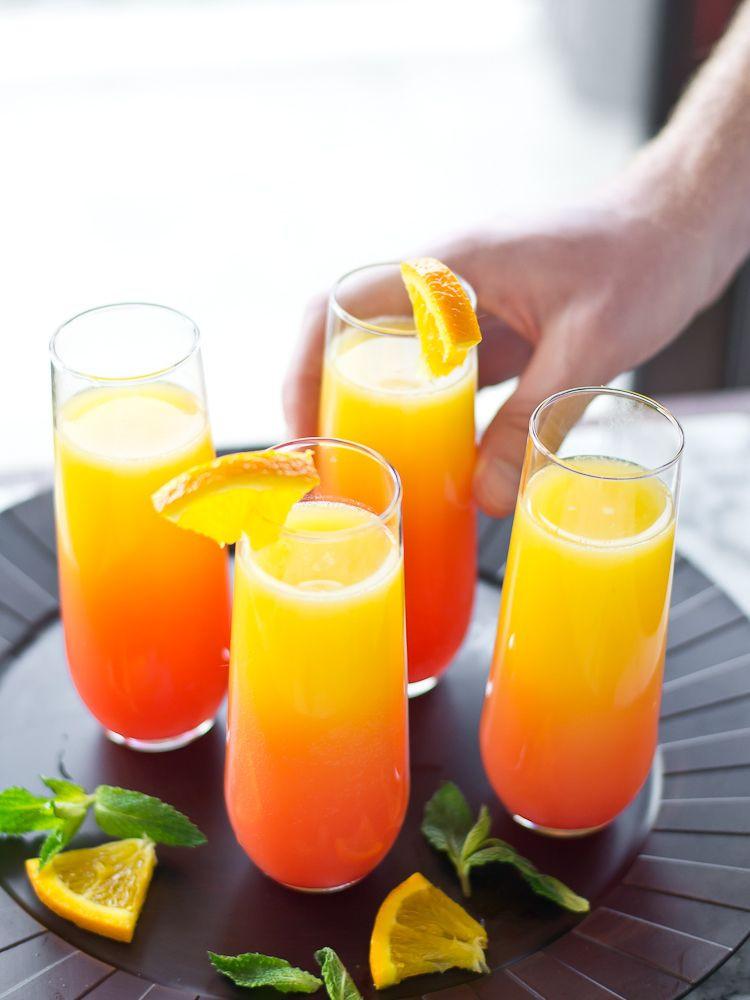 Breakfast Alcoholic Drinks  Tequila Sunrise Mimosas Recipe Cocktails