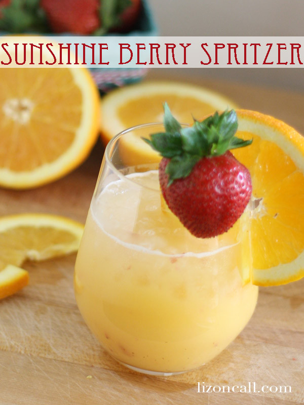 Breakfast Alcoholic Drinks  Sunshine Berry Spritzer Non Alcoholic Brunch Party Punch