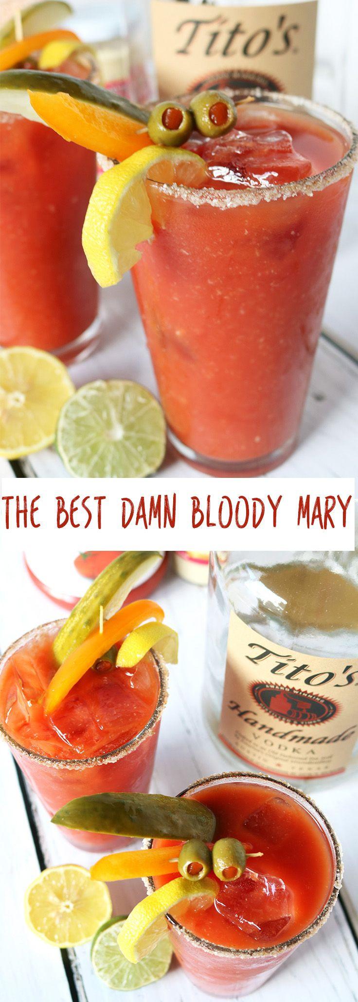Breakfast Alcoholic Drinks  Best 20 Best bloody mary recipe ideas on Pinterest
