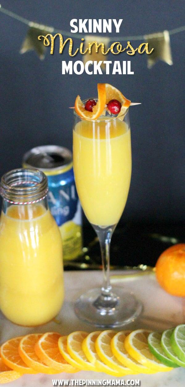 Breakfast Alcoholic Drinks  Skinny Mimosa Mocktail Recipe • The Pinning Mama