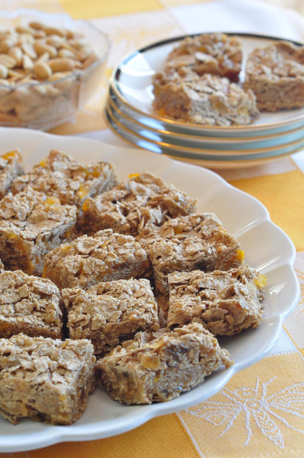 Breakfast Bar Recipes  Peanut Butter Sesame Breakfast Bars Recipe — Dishmaps