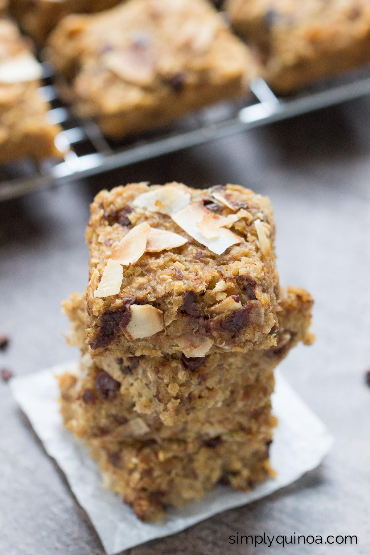 Breakfast Bars Recipe  quinoa breakfast bars
