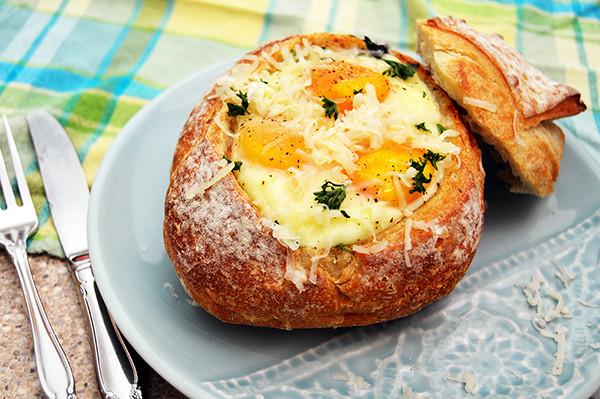 Breakfast Bread Bowl  Breakfast Bread Bowls
