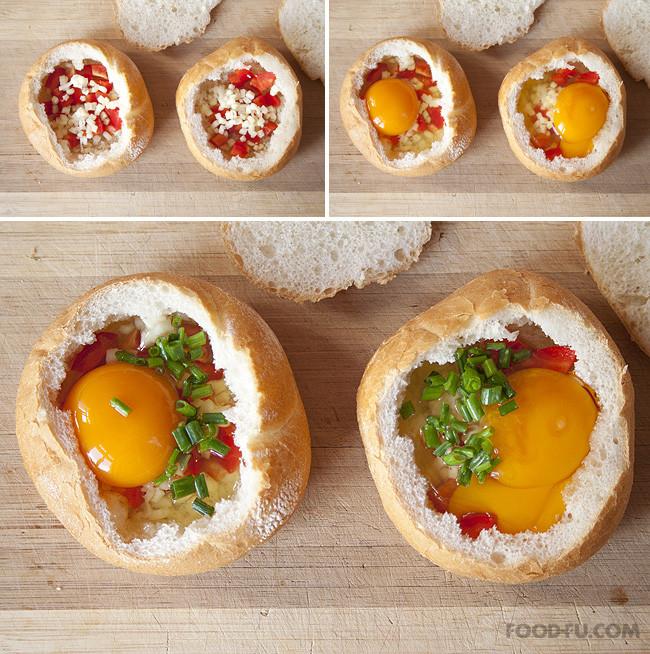 Breakfast Bread Bowl  How to Make Breakfast bread bowls Cooking Handimania