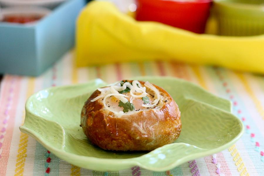 Breakfast Bread Bowl  Customizable Bread Bowl Breakfast