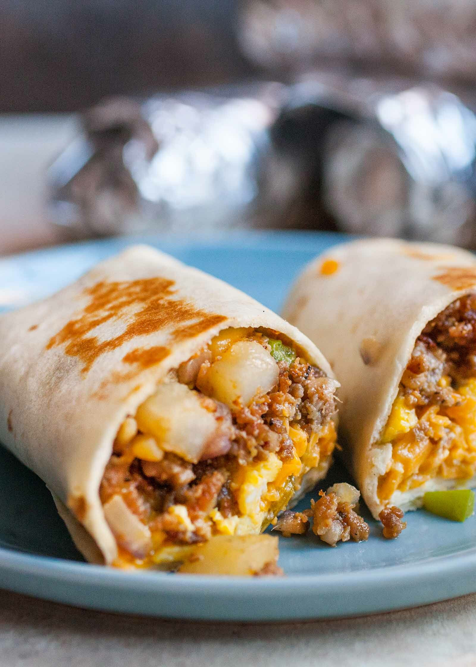 Breakfast Burritos Recipe  Freezer Breakfast Burritos with Sausage Eggs and Salsa