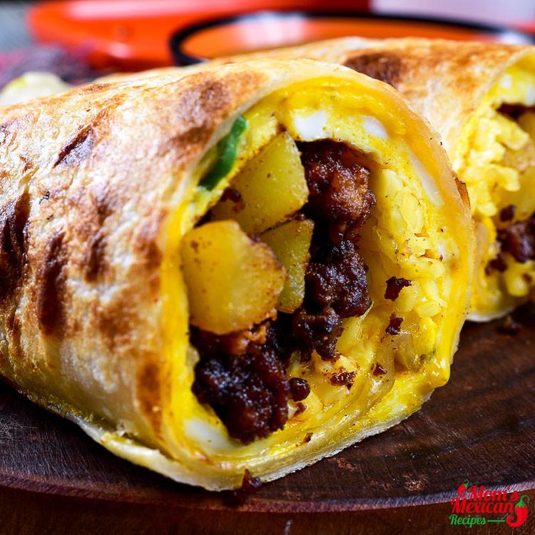 Breakfast Burritos Recipe  tex mex breakfast burrito recipe