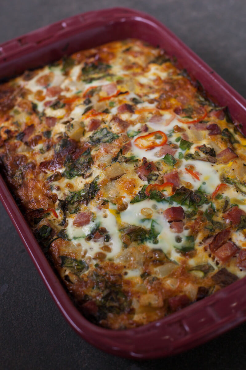 Breakfast Casserole Recipe  Easy Overnight Ham and Veggie Breakfast Casserole Recipe