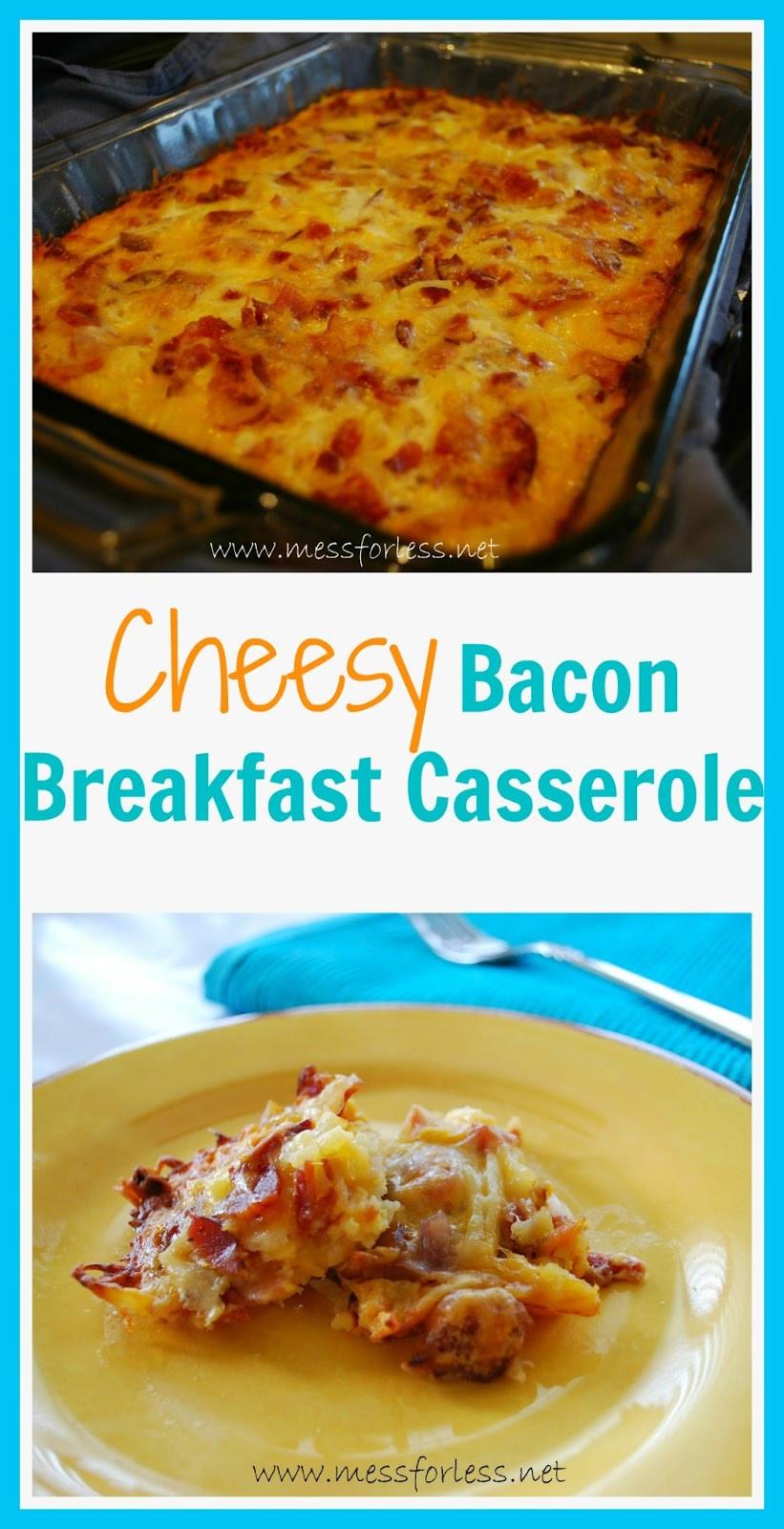 Breakfast Casserole Recipe  Breakfast Casserole Recipe Food Fun Friday Mess for Less