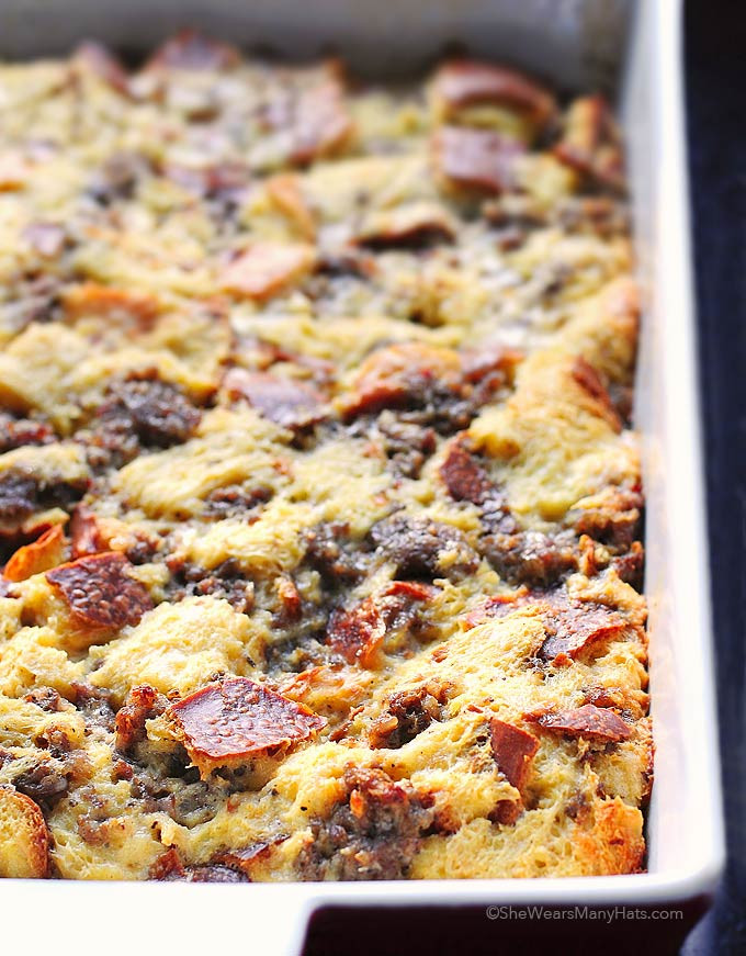 Breakfast Casserole Recipes With Sausage  Easy Sausage Cheese Breakfast Casserole Recipe