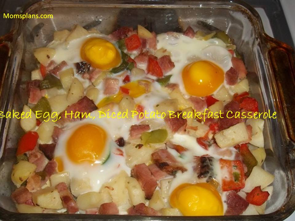 Breakfast Casserole With Ham And Potatoes And Eggs  Baked Egg Ham and Diced Potato Breakfast Casserole