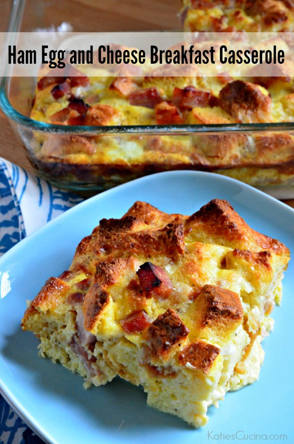 Breakfast Casserole With Ham And Potatoes And Eggs  ham and cheese bread casserole
