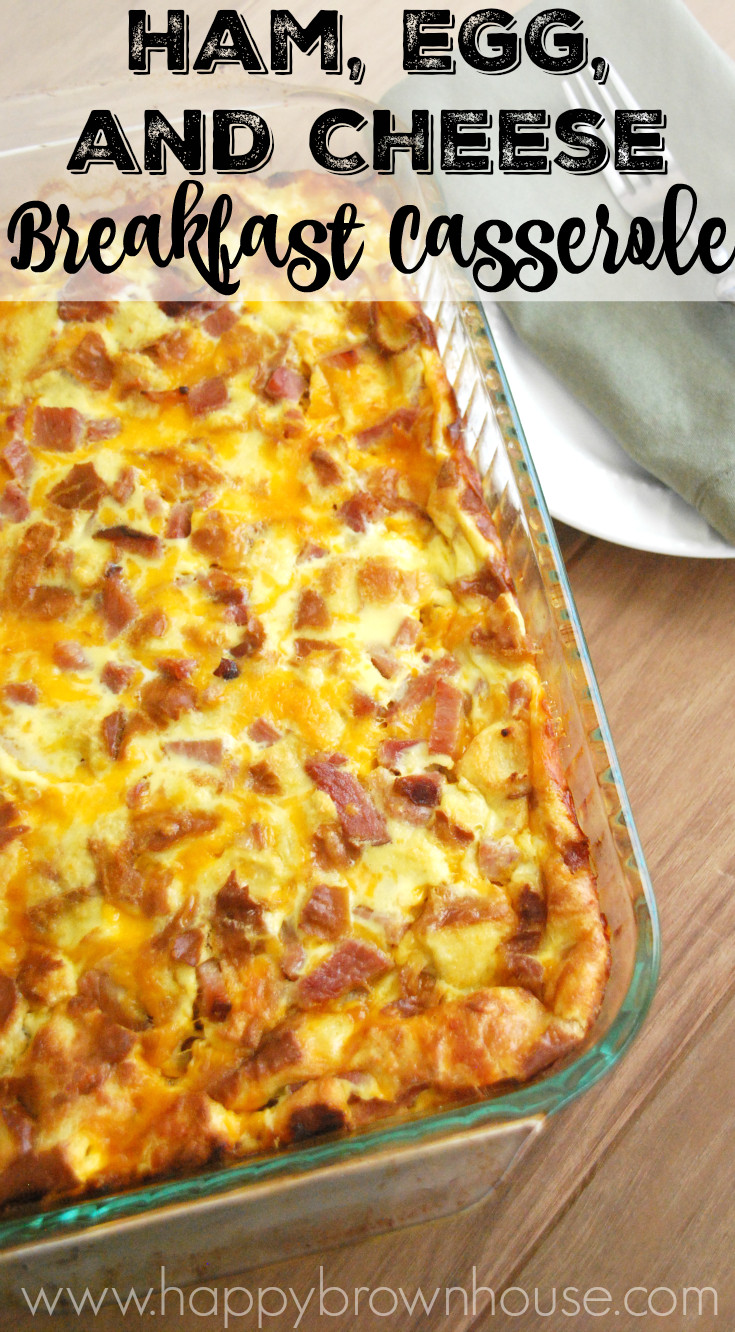 Breakfast Casserole With Ham And Potatoes And Eggs  Ham Egg and Cheese Breakfast Casserole