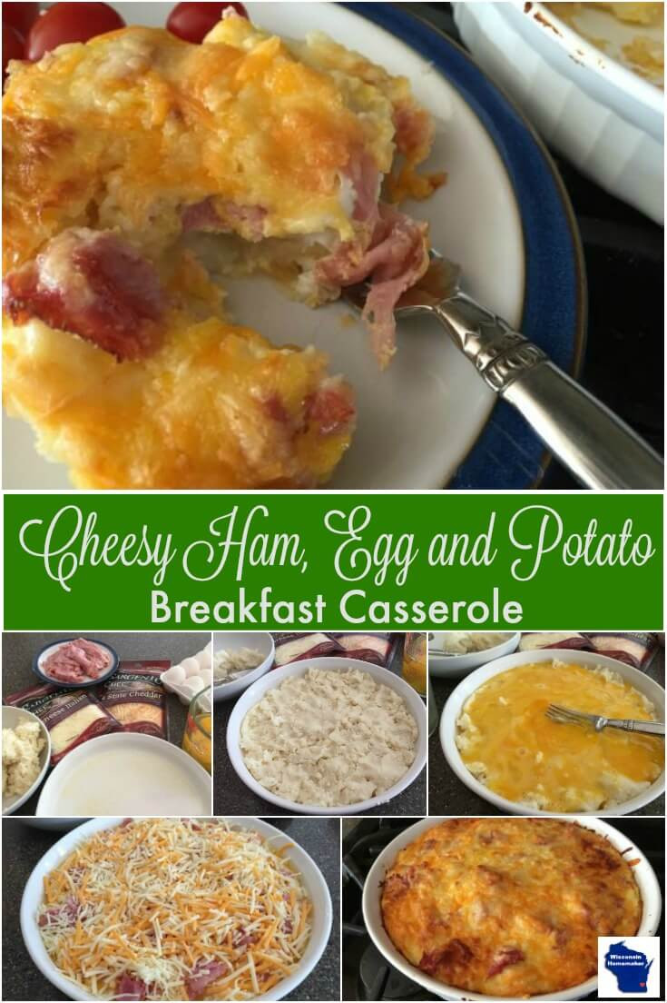 Breakfast Casserole With Ham And Potatoes And Eggs  Cheesy Ham Egg and Potato Breakfast Casserole Wisconsin
