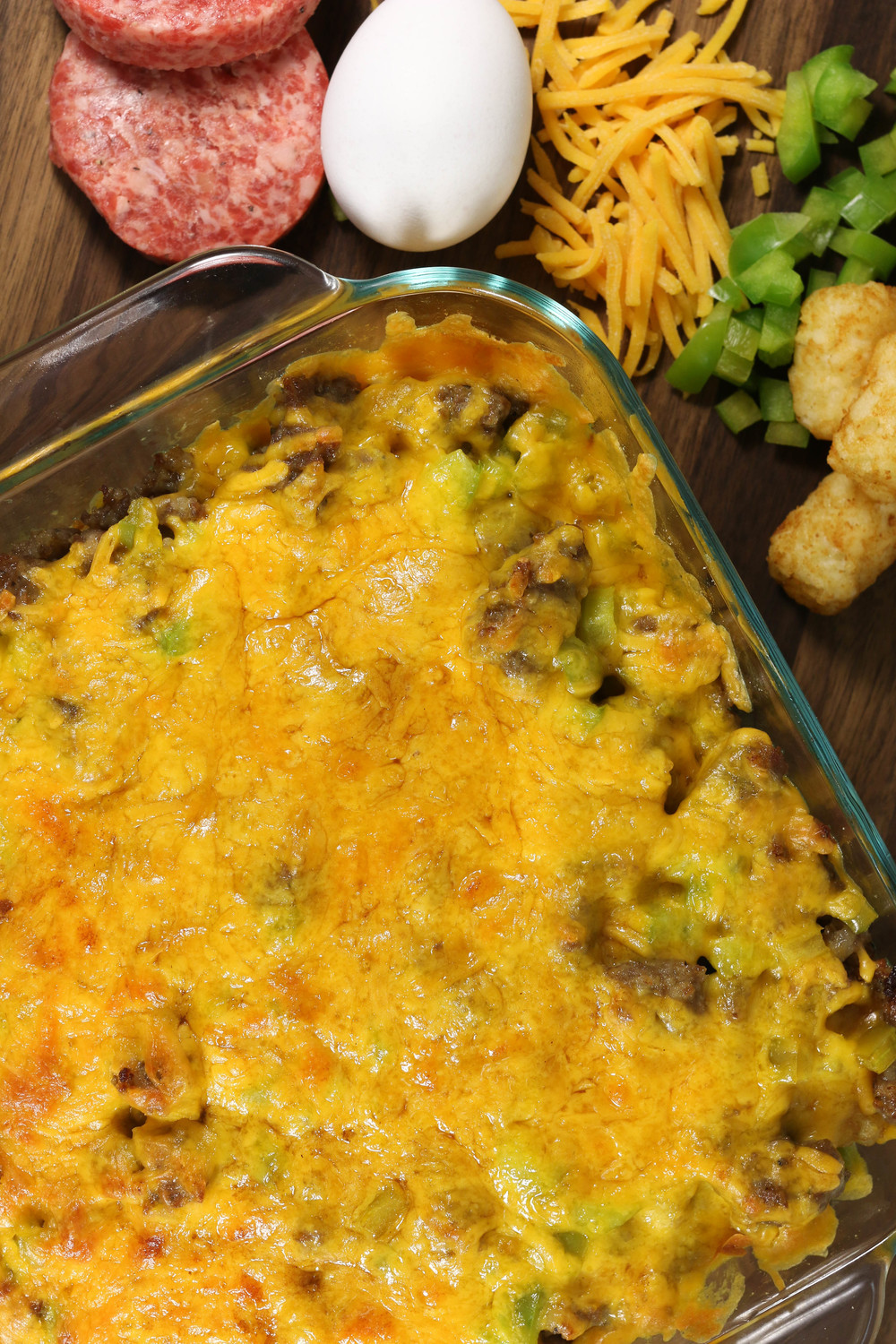 Breakfast Casserole With Tater Tots And Sausage  Tater Tot Sausage and Egg Breakfast Casserole