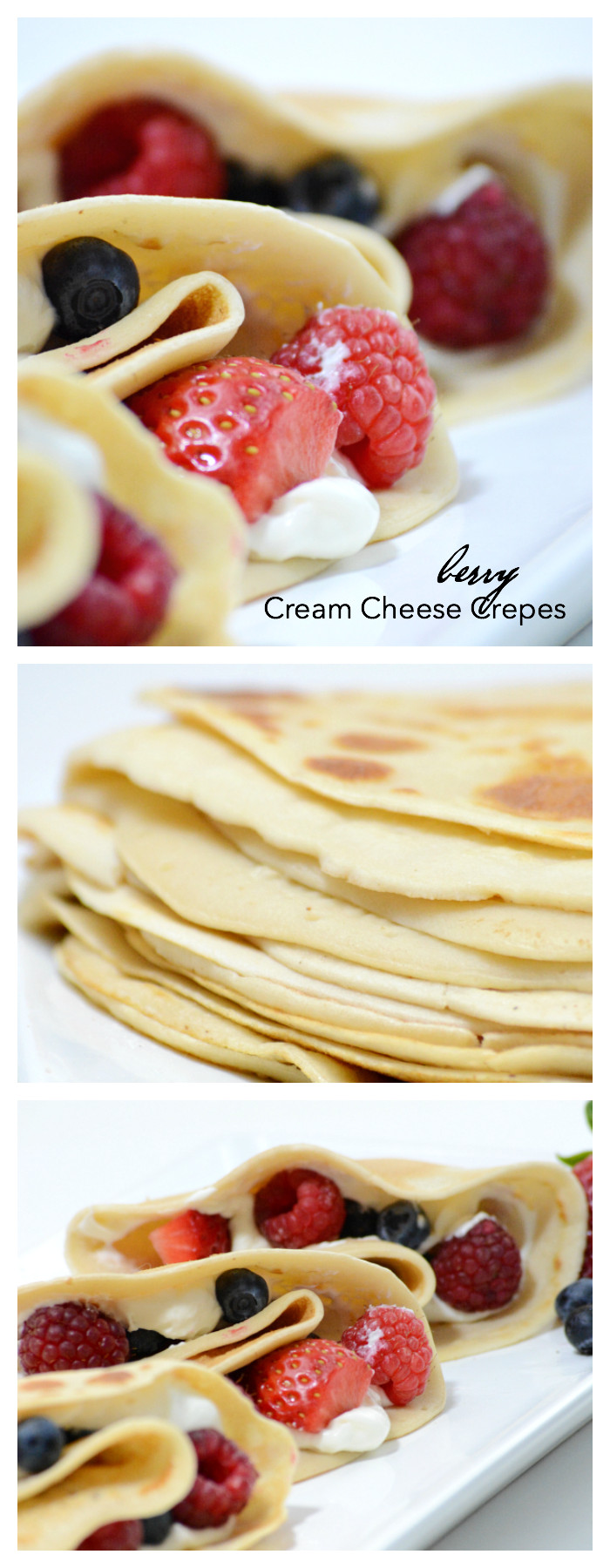 Breakfast Crepes Recipe  Berry Cream Cheese Crepes The Idea Room