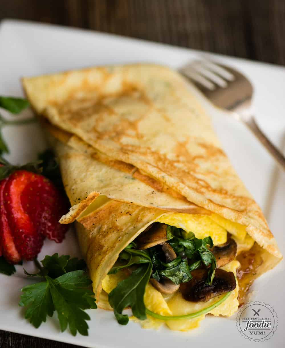 Breakfast Crepes Recipe  Savory Breakfast Crepes with Bourbon Bacon Jam