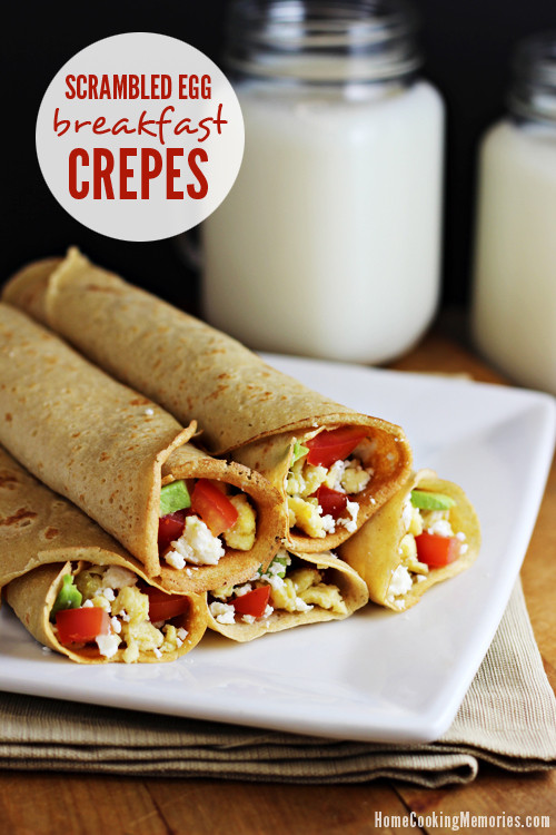 Breakfast Crepes Recipe  Scrambled Egg Breakfast Crepes Recipe Home Cooking Memories