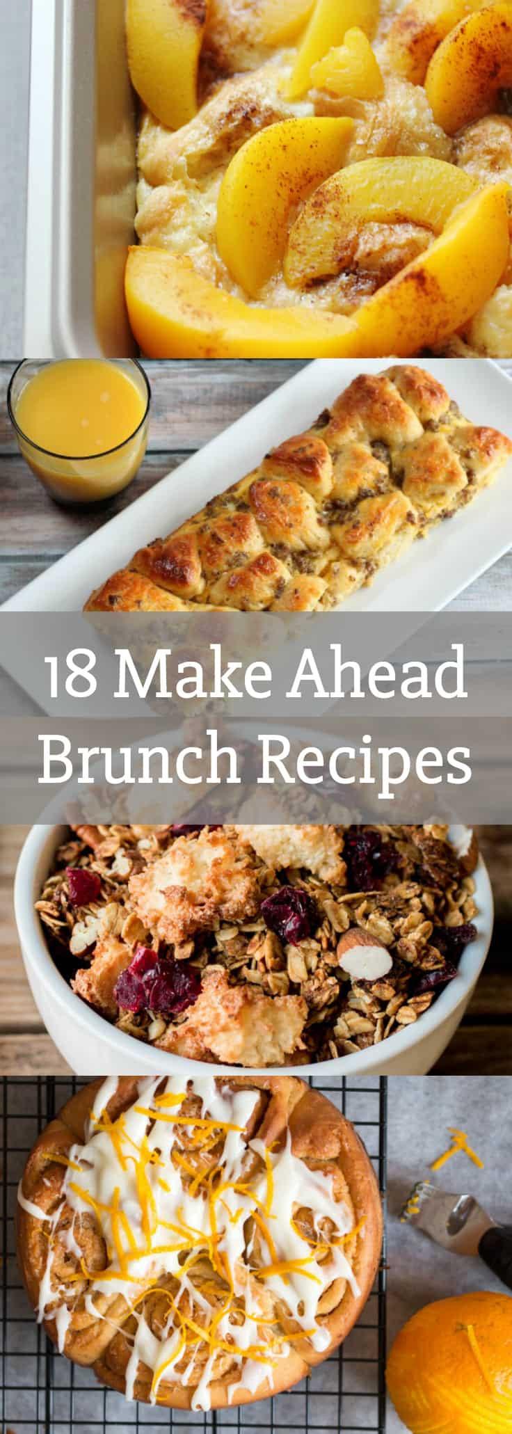 Breakfast Food Recipes  18 Make Ahead Brunch Recipes breakfast food recipes
