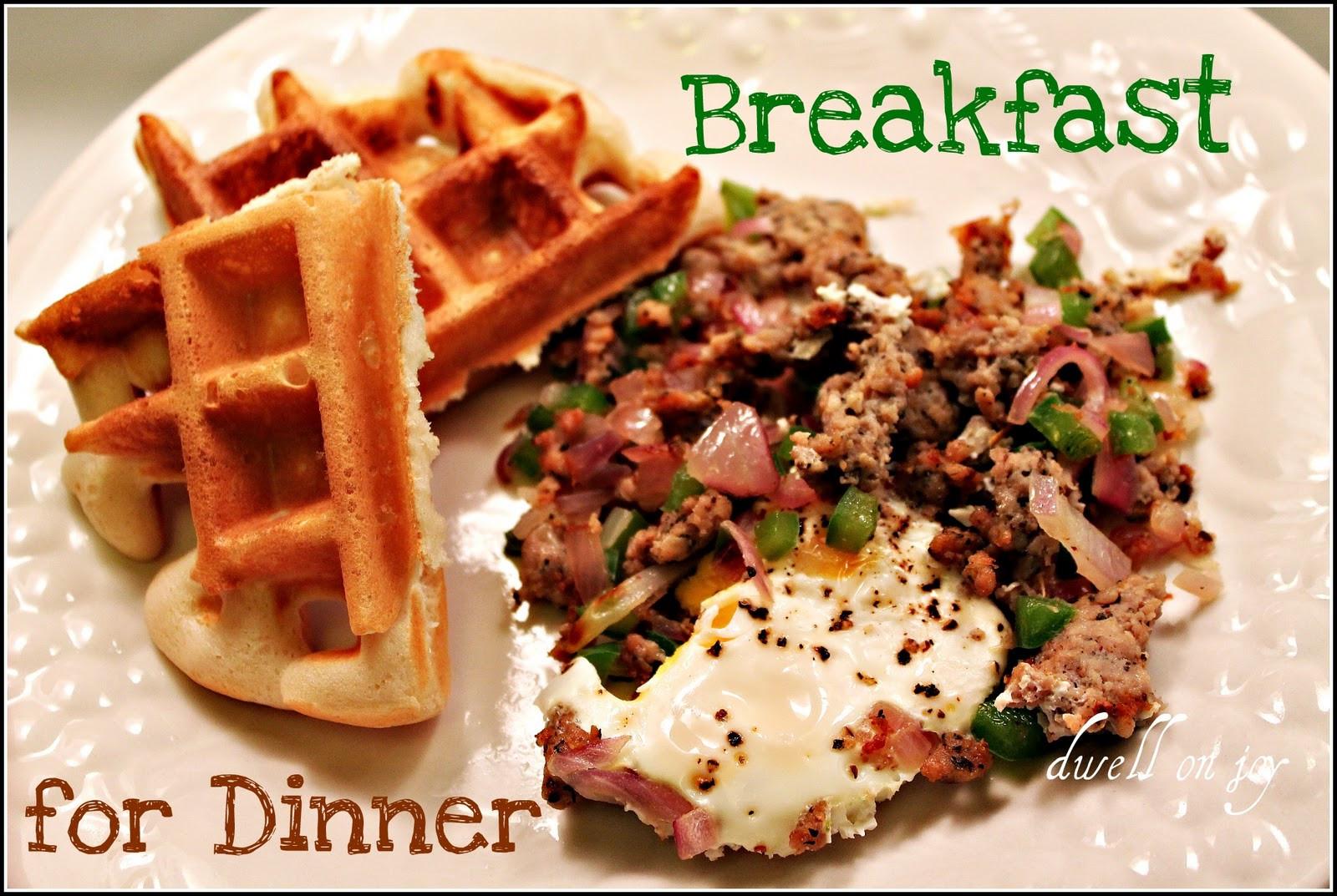 Breakfast For Dinner  Breakfast for Dinner Waffles & Hash