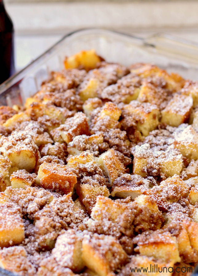 Breakfast French Toast Casserole  BEST Overnight French Toast Bake