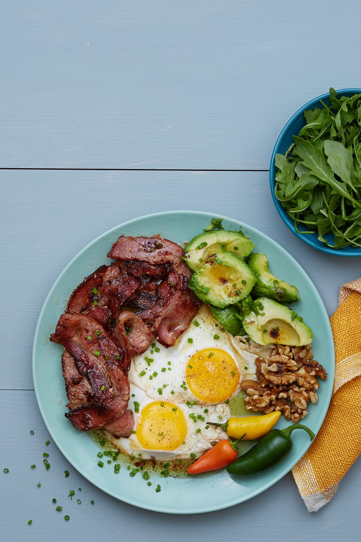 Breakfast Ideas With Eggs And Bacon  Keto Bacon and Eggs Plate Breakfast for Dinner Diet Doctor