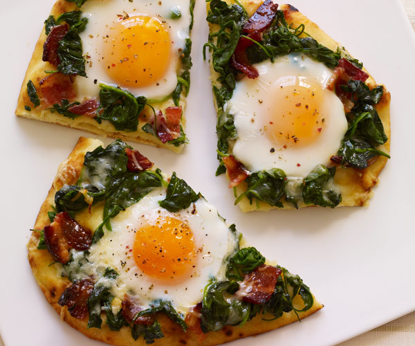 Breakfast Ideas With Eggs And Bacon  Applewood Bacon & Eggs Breakfast Flatbread Recipe