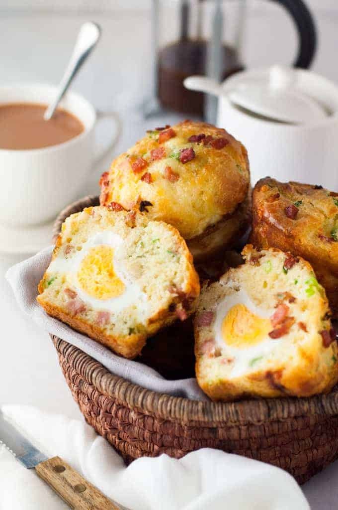 Breakfast Ideas With Eggs And Bacon  Bacon & Egg Breakfast Muffins