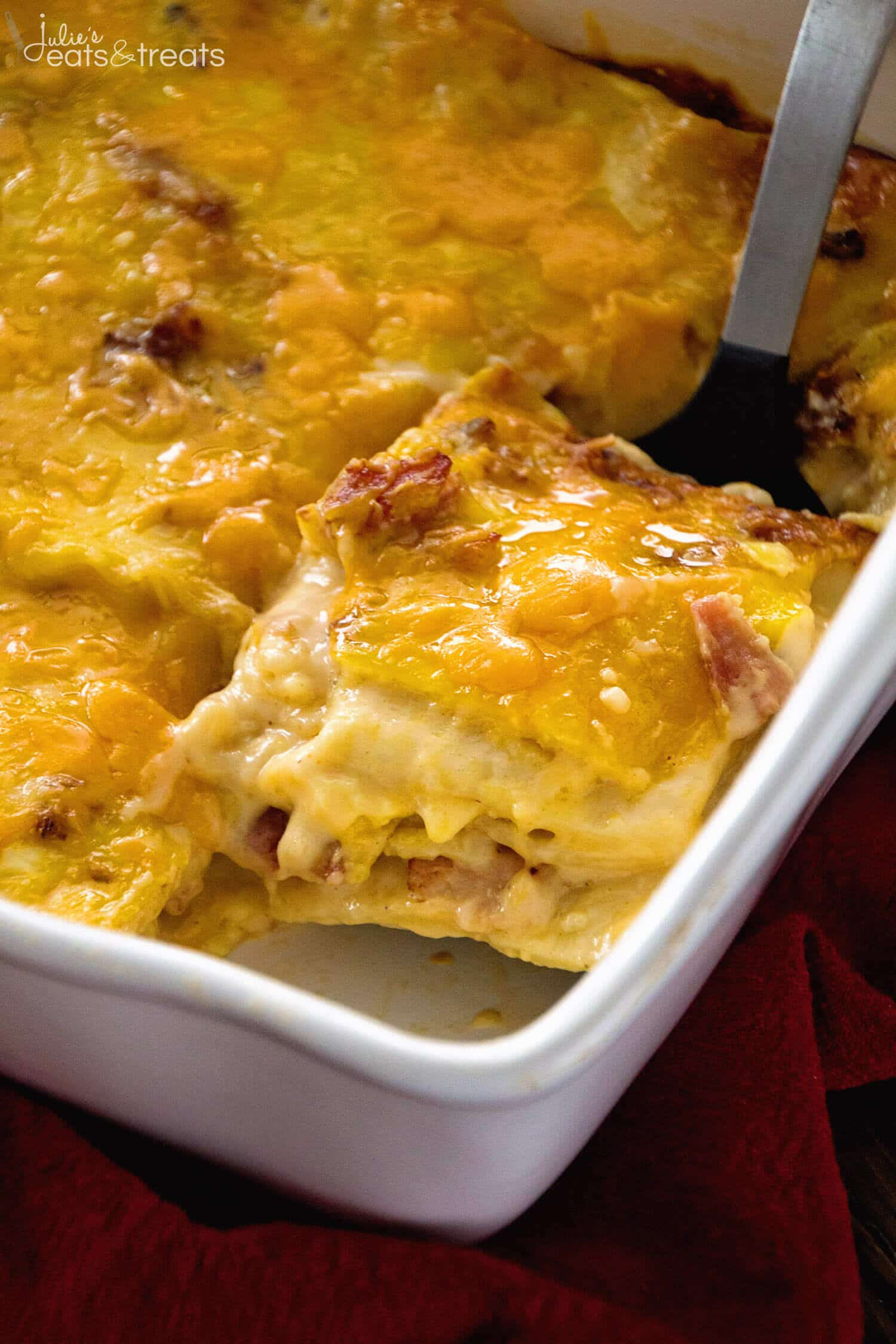 Breakfast Lasagna Recipe  Ham & Cheese Overnight Breakfast Lasagna Recipe Julie s