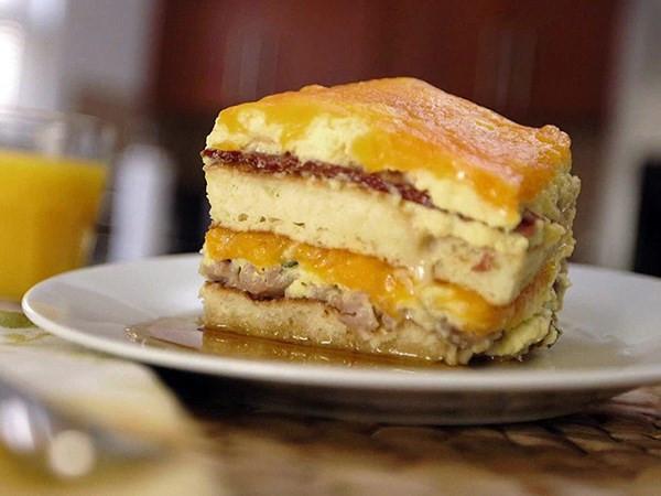 Breakfast Lasagna Recipe  24 Flippin Good Pancake Recipes for Shrove Tuesday