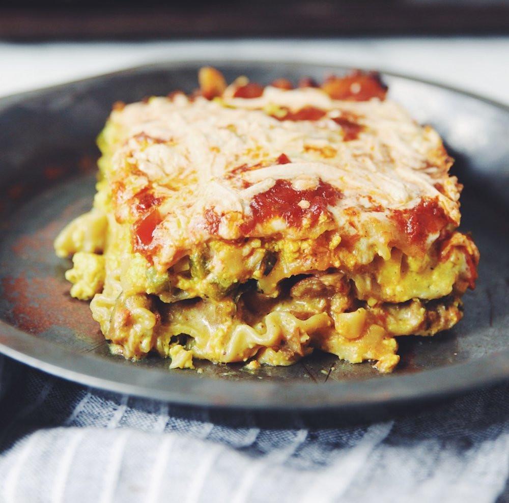 Breakfast Lasagna Recipe  vegan breakfast lasagna hot for food