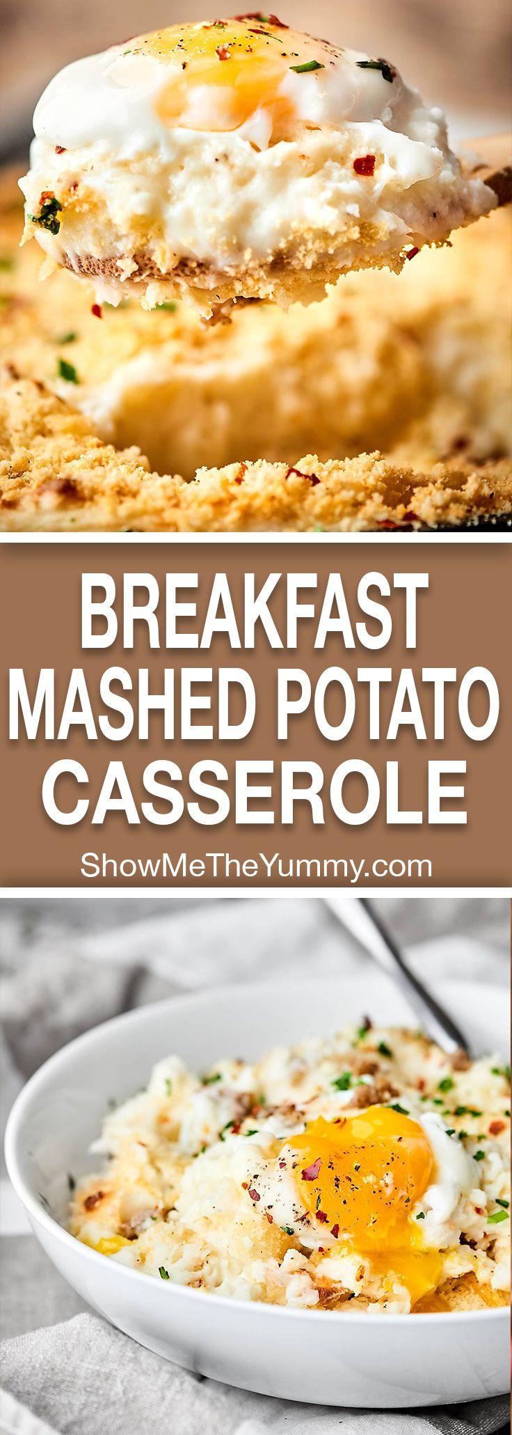 Breakfast Mashed Potatoes  Breakfast Mashed Potato Casserole Recipe