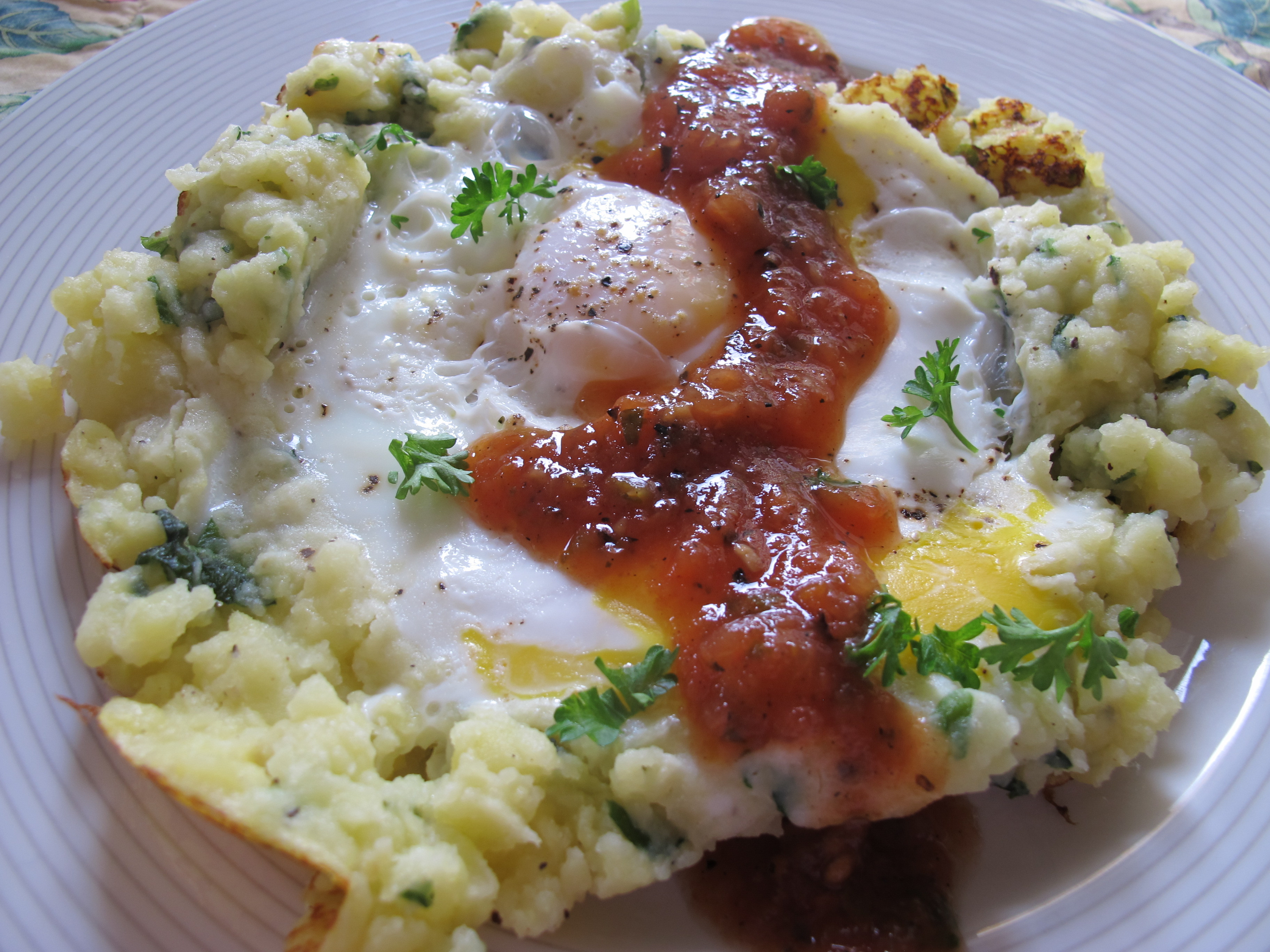 Breakfast Mashed Potatoes  Mashed Potato Eggs — Breakfast Lunch or Dinner