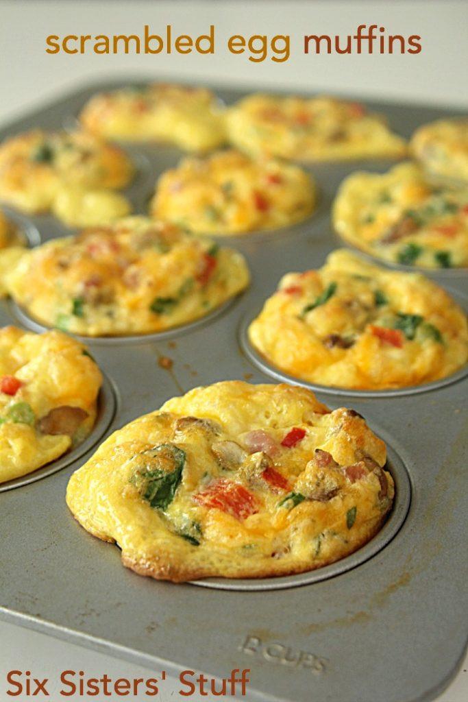 Breakfast Muffin Recipe  Scrambled Egg Breakfast Muffins – Six Sisters Stuff