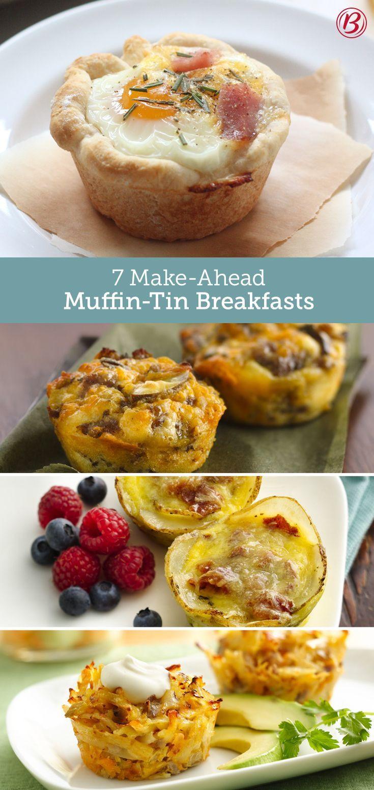 Breakfast Muffin Recipes  7 Make Ahead Muffin Tin Breakfasts