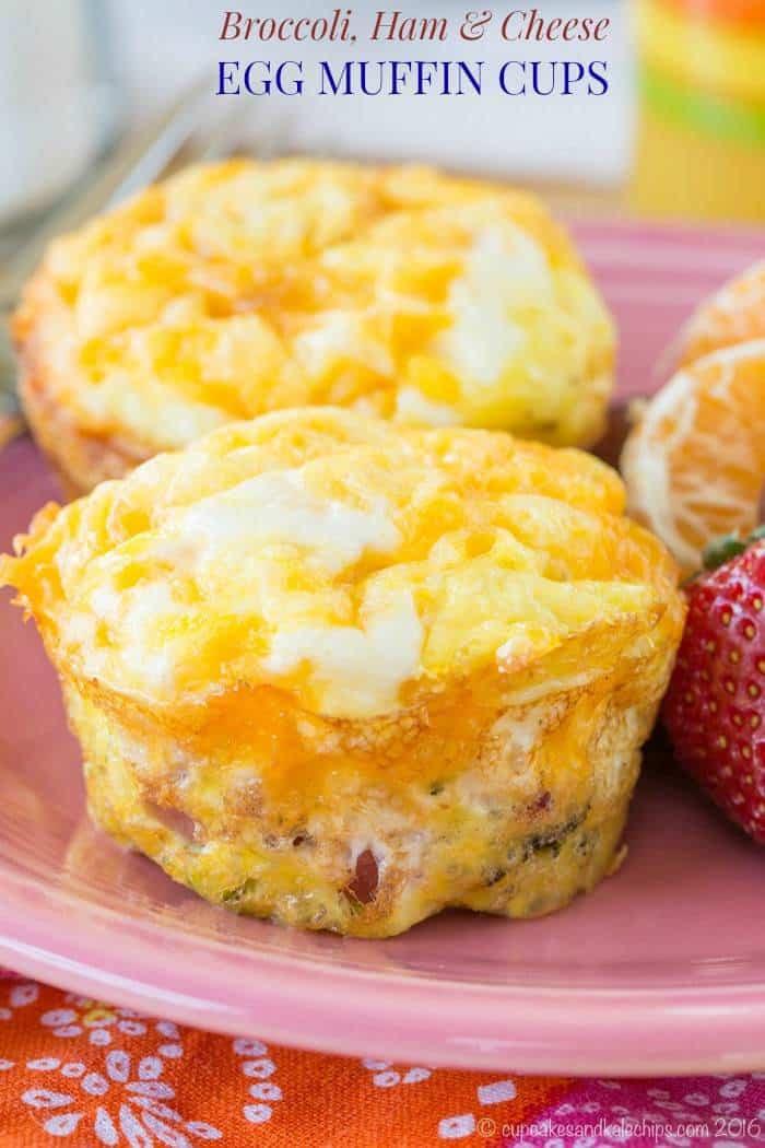 Breakfast Muffin Recipes  ham and egg in muffin cups