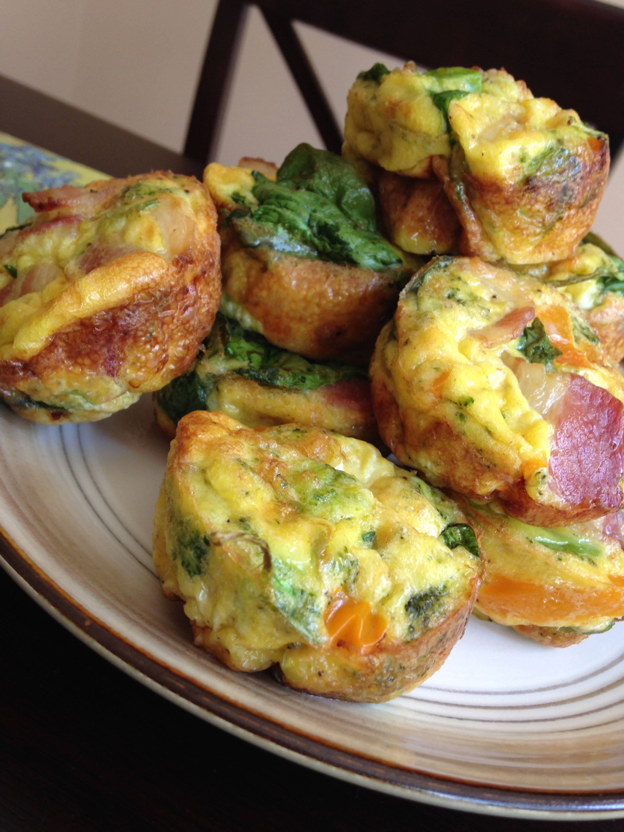 """Breakfast Muffin Recipes  Very Simple Breakfast Egg """"Muffins"""""""
