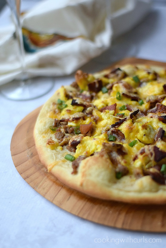 Breakfast Pizza With Gravy  Breakfast Pizza dairy free Cooking With Curls
