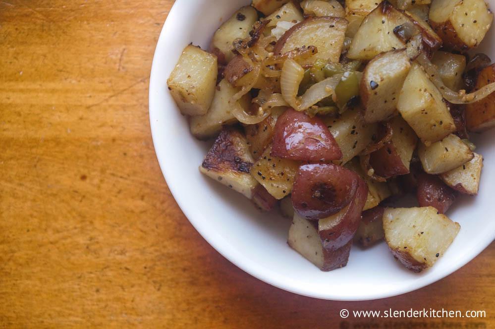 Breakfast Potatoes Calories  Crispy Oven Breakfast Potatoes Slender Kitchen