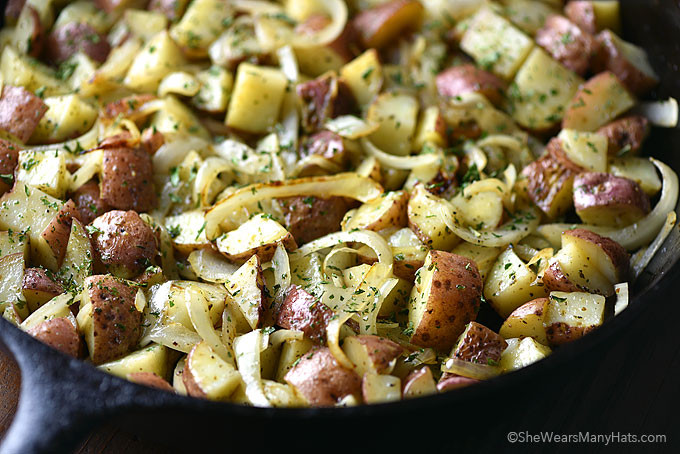 Breakfast Potatoes Skillet  Best Skillet Breakfast Potatoes Recipe