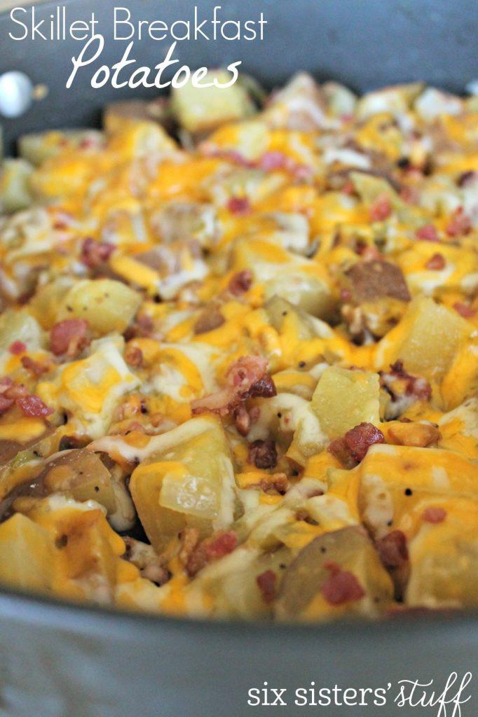 Breakfast Potatoes Skillet  Easy Skillet Breakfast Potatoes Recipe – Six Sisters Stuff