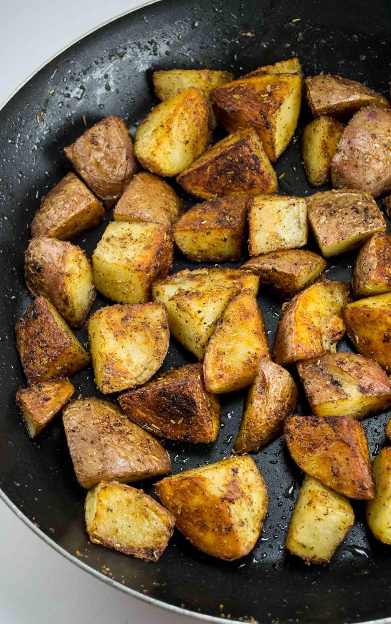 Breakfast Potatoes Skillet  Crispy Skillet Breakfast Potatoes vegan gluten free