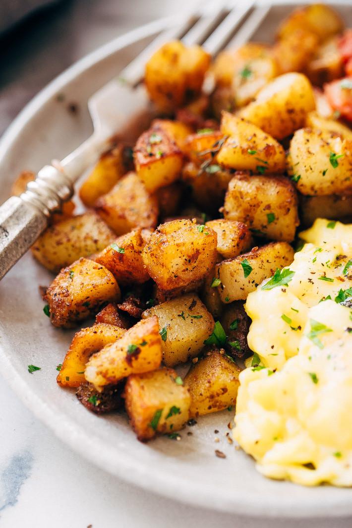 Breakfast Potatoes Skillet  Easy Skillet Breakfast Potatoes Recipe