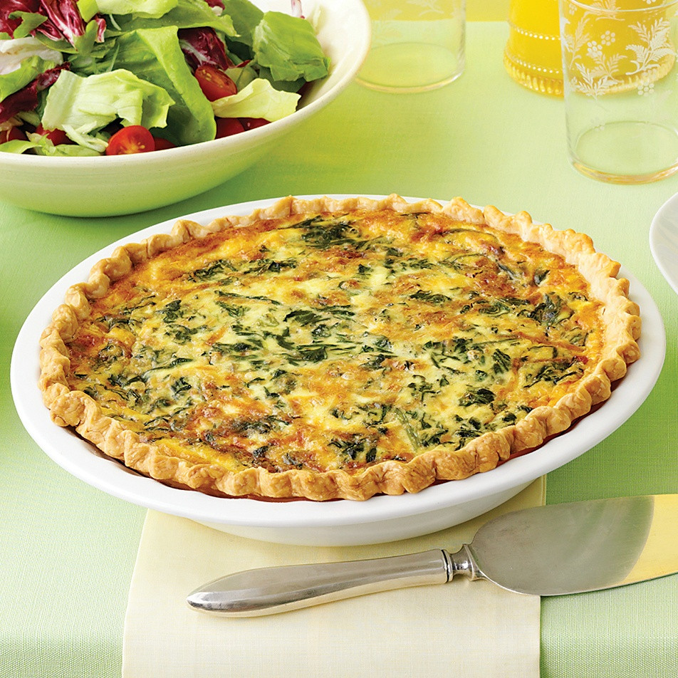 Breakfast Quiche Recipe  Spinach and Gruyere Quiches Recipe
