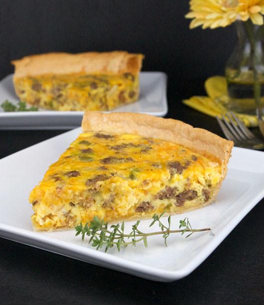 Breakfast Quiche With Sausage  Sausage Quiche Recipe