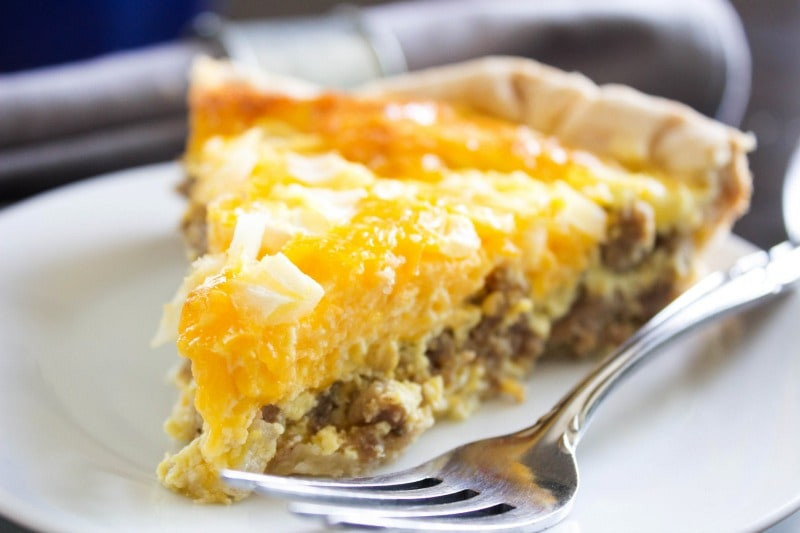 Breakfast Quiche With Sausage  EASY SAUSAGE QUICHE A Dash of Sanity