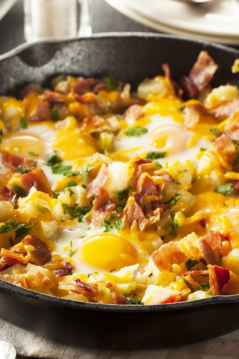Breakfast Recipes With Eggs  egg and potato breakfast recipes